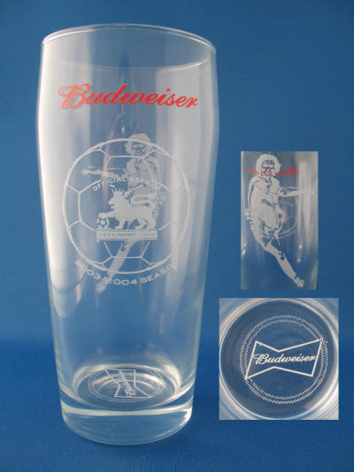 Budweiser Premier League Glass