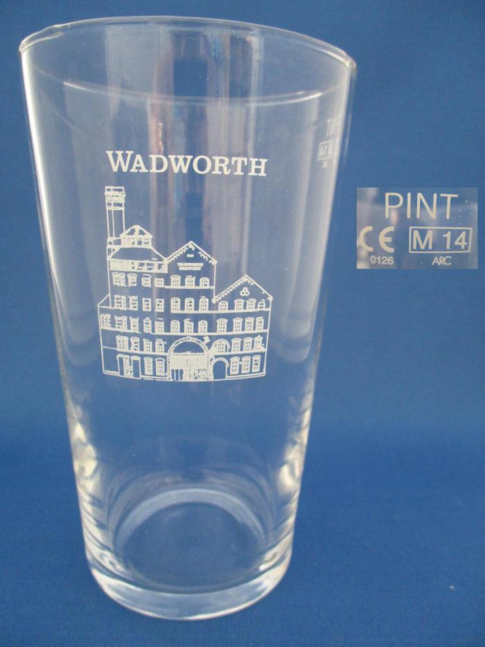 Wiltshire Wadworth Brewery pint glass  Devizes