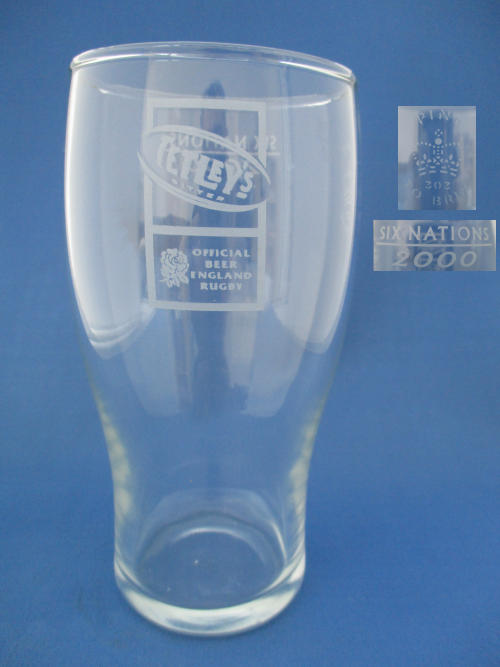 AUTHENTIC TETLEYS OFFICIAL RUGBY BEER PINT GLASS IN BOX MARK 303 WEST YORKSHIRE